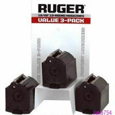 Ruger 10/22  BX-1  22LR 10 Round  Magazine  3-Pack Model # 90451 OEM Factory New