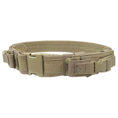 Condor Tactical Belt With Pistol Mag Pouches Airsoft Combat Security Coyote Tan