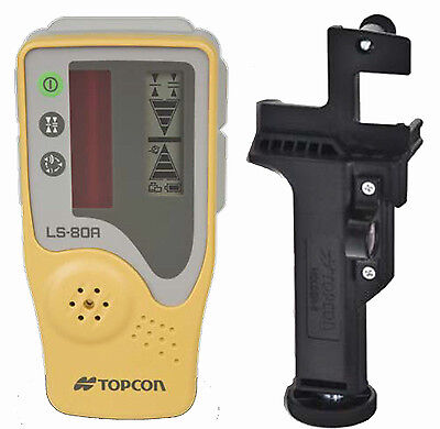 Topcon LS-80A Rotating Laser Level Detector with Rod Mount