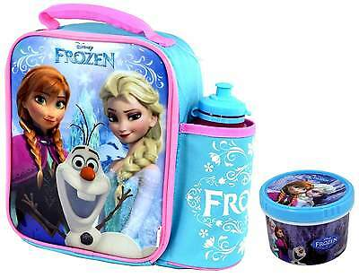 Disney Frozen Vertical Lunch Bag/Box and Bottle Set with Snack Pot