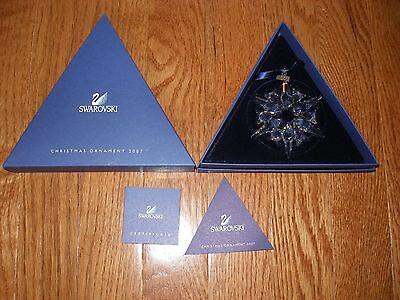 2007 Swarovski Crystal Annual Christmas Ornament Orig. Box And Coa Retired