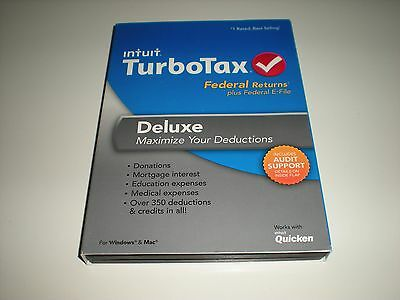 Turbotax 2013 Deluxe. Federal Only. Blemished but sealed box.