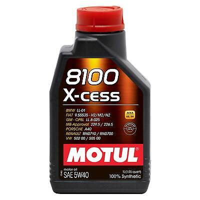 1 Litre Motul 8100 5W40 X-Cess 100% Synthetic High Performance Engine Oil