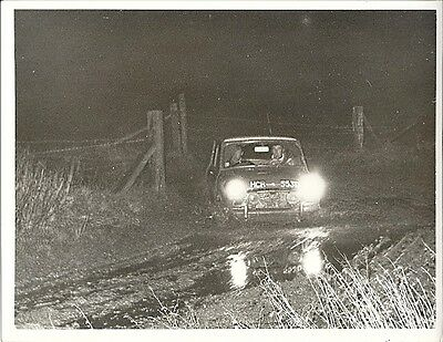 MINI RALLYING, CAR No.HCR 553D PERIOD PHOTOGRAPH.