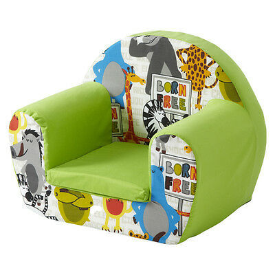 Born Free Lime Childrens Kids Comfy Foam Chair Toddlers Armchair Seat Baby Seat