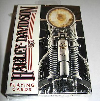 Harley Davidson USA Factory Sealed Playing Cards U.S.Playing Card Co 243-R L@@K