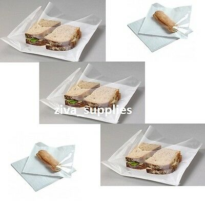 "(8.5""x8.5"") WINDOW FILM FRONTED Clear Paper Cellophane Bags for Counter Display"