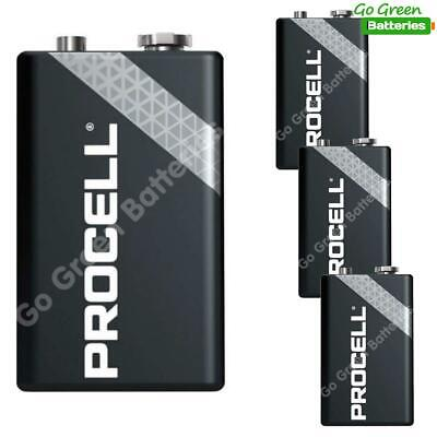 4 x Duracell 9V PP3 Industrial Procell Batteries, Smoke Alarm, LR22 BLOC MN1604