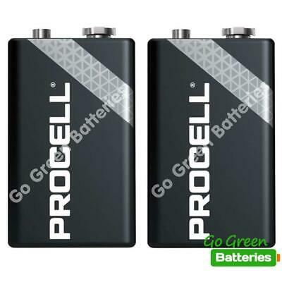 2 x Duracell 9V PP3 Industrial Procell Batteries, Smoke Alarm, LR22 BLOC MN1604