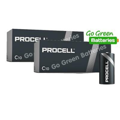 20 x Duracell C Size Industrial Alkaline Batteries Procell LR14 Cell MN1400 BABY
