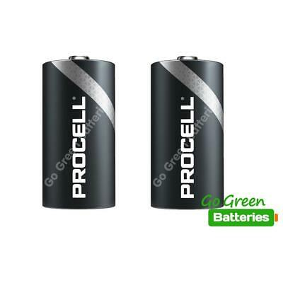 2 x Duracell C Size Industrial Alkaline Batteries Procell LR14 Cell MN1400 BABY