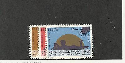 Libya, Postage Stamp, #243-245 Mint NH, 1964