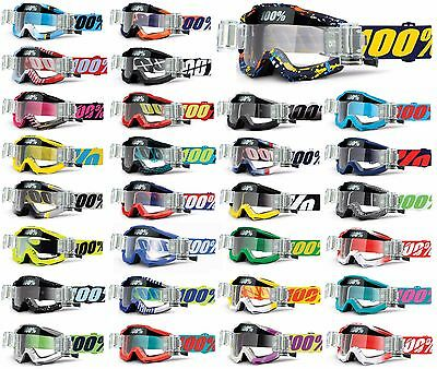 2019 100% PERCENT ACCURI MOTOCROSS MX GOGGLES with GSVS ROLL OFF CANISTERS mtb