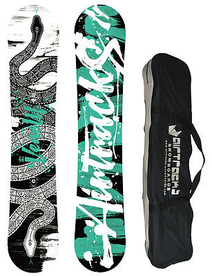 Snowboard AIRTRACKS Venom Wide+SB Bag/Carbon Rocker Holzkern /146 151 156 161cm/
