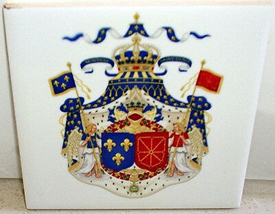 Grand Royal Coat of Arms of France & Navarre 1589-1792 CERAMIC TILE
