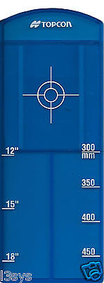 Topcon Large Blue Pipe Target Insert  for Model TP-L4BG with Priority Mail