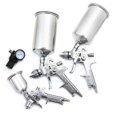 4pc HVLP Air Spray Paint Gun Set Gravity Car Auto Painting Professional Kit