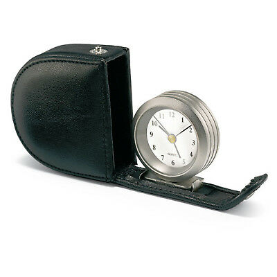 Leather Case Fold Out Travel Alarm Clock