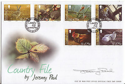 Isle Of Man 2009 Jeremy Paul Country File Paintings Signed Fdc