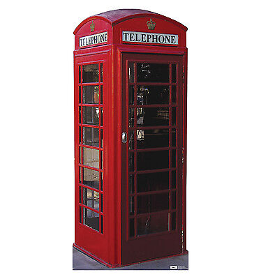 English Phone Booth - Life Size Cardboard Standup/cutout - Brand New Uk 698