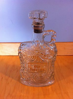 Vintage Old Forester Kentucky Whiskey Decanter Bottle With Cork Glass Top *