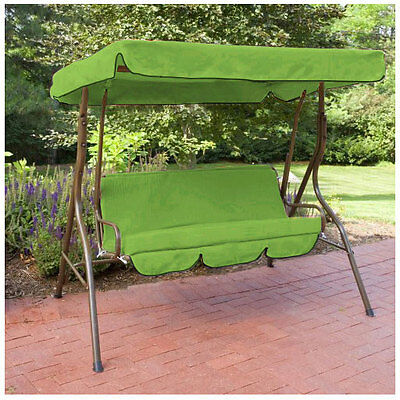 Lime Water Proof 2 Seater Garden Hammock Swing Seat Canopy Cover & Cushion Set