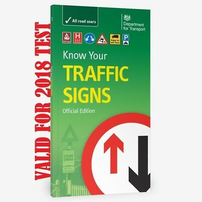 """DVSA DSA OFFICIAL KNOW YOUR TRAFFIC SIGNS PAPERBACK UK 2017 Test Edition L """"trfc"""
