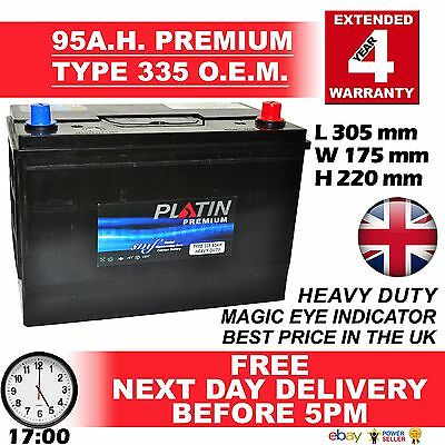 12V Car Battery Heavy Duty Type 249/335 4 Year Warranty LION SEALED 24HR**Del ££