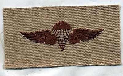 US Navy & Marine Paratrooper Wing DCU Desert Tan Patch