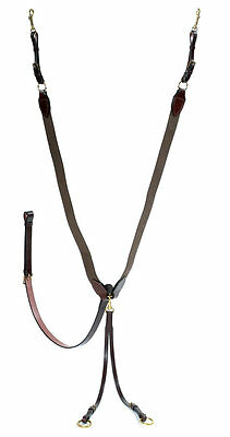 Stephens Elasticated V check with Running Martingale Attachment