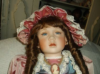 William Tung 1993 Victorian porcelain doll, 23-inch, mint, NO BOX