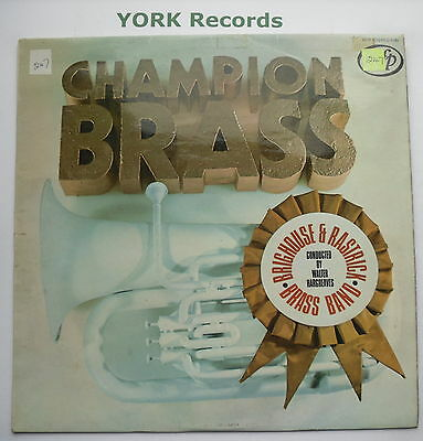 BRIGHOUSE & RASTRICK BRASS BAND - Champion Brass - Ex Con LP Record MFP 5190