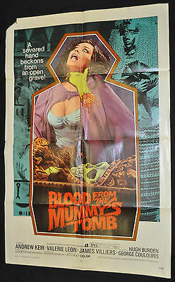 Blood from the Mummy's Tomb Original One 1sh Sheet Movie  Poster - 1972 ITB WH