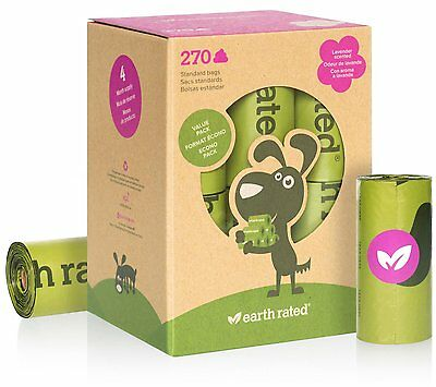 Earth Rated® Poop Bags Dog Waste Bags, Refill Rolls by Earth Rated (BIO270) NEW