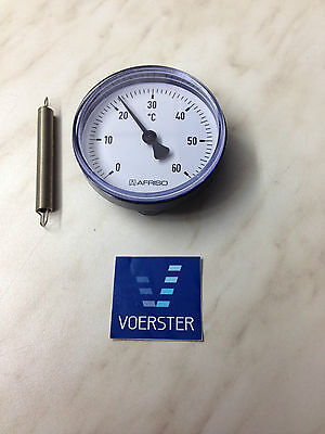 "Anlegethermometer Fußbodenheizung ATh 63 S 0-60°C 3/8"" - 1 1/2"" Thermometer"