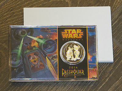 NEW Disney Star Wars Weekends 2014 Limited Edition Commemorative Silver Coin