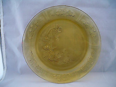 "Federal Glass Sharon 9"" Plate Amber 1935-1939"