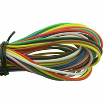 9M 16/0.2mm Single Core Hook Up Wire Pack 9x Colours