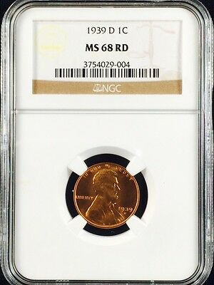 1939-D Lincoln Wheat One Cent NGC MS68RD                             3754029-004