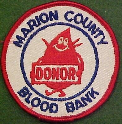 Marion County Blood Bank Donor Patch