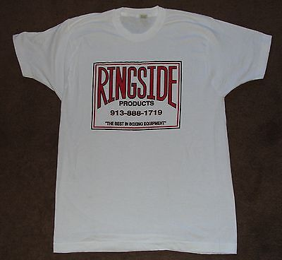 Vintage 1980s Ringside Products Boxing Equipment XL Screen Stars White Shirt