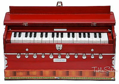 HARMONIUM No.5600r|MAHARAJA|A440|11 STOP|COUPLER|42KEYS|CONCERT|RED COLOR|ABD