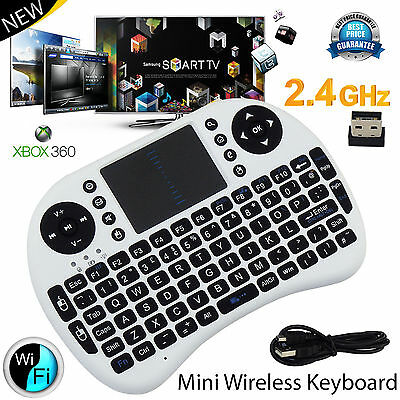 New 2.4G Mini Wireless Keyboard Touchpad Fly Air Mouse Qwerty Android TV BOX PC