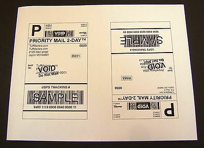Labels 8.5x5.5 - 200 Shipping Labels Half-Sheet Self-Adhesive USPS UPS FedEx