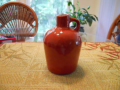 Handcrafted Jug, small, brown glazed
