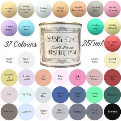 Shabby Chic Chalk Paint For Furniture 250ml Matt Finish Choice of 37 colours!
