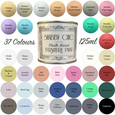 Shabby Chic Chalk Paint For Furniture 125ml Matt Finish Choice of 37 colours!