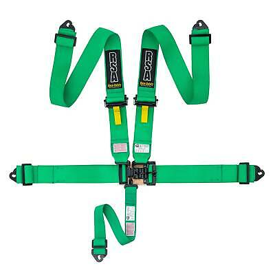 "RSA 3"" 5 Point NASCAR Style Brisca Oval Autograss Safety Harness - Green"