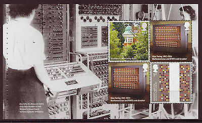 Great Britain 2015 Inventive Britain Alan Turing Pane 2 Unmounted Mint