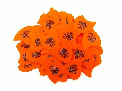 Dunlop Guitar Picks  72 Pack  Tortex Fins  .60mm  Orange